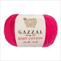 Пряжа Baby Cotton, цвет малиновый