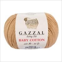 Пряжа Baby Cotton, цвет бежевый