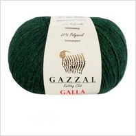 Пряжа Galla, цвет зеленый
