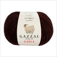 Пряжа Galla, цвет темно-коричневый