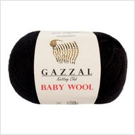 Пряжа Baby Wool, цвет черный