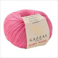 Пряжа Baby Wool, цвет малиновый