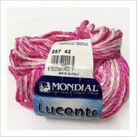 Пряжа Lucente (бело-розовый меланж)