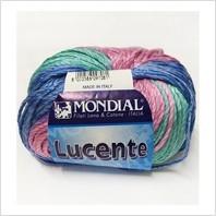 Пряжа Lucente (розово-голубо-мятный меланж)